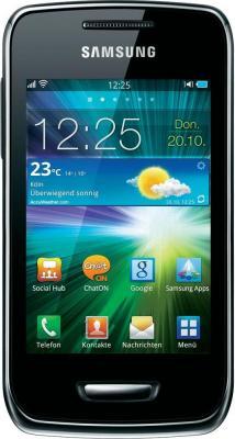 Смартфон Samsung S5380 Wave Y Sand Silver - вид спереди