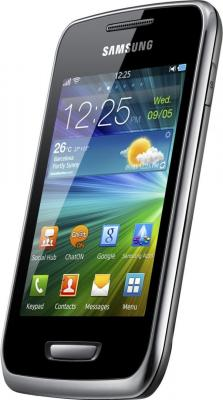Смартфон Samsung S5380 Wave Y Sand Silver - вполоборота