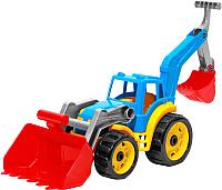 Детская игрушка ТехноК Трактор с двумя ковшами 3671 (синий) -