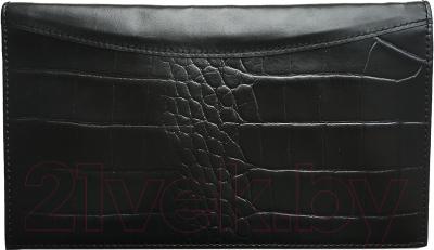 Портмоне Versado 110 (черный с тиснением)