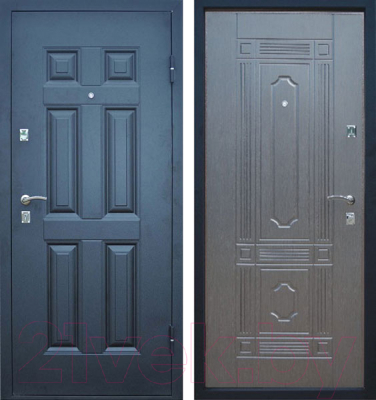 тамбурные металлические двери в видном