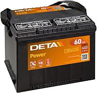 Автомобильный аккумулятор Deta US-Type DB608 (60 А/ч) -