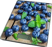 Кухонные весы Lumme LU-1340 (черничная россыпь) -