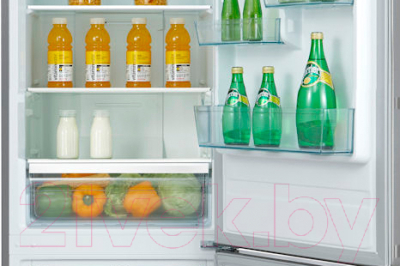 Холодильник с морозильником Teka NFL 340 Inox (40672011)