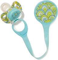 Держатель для пустышки Happy Baby Pacifier Holder 11007 (голубой) -