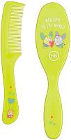 Набор для ухода за волосами детский Happy Baby Brush Comb Set 17000 (лайм) -