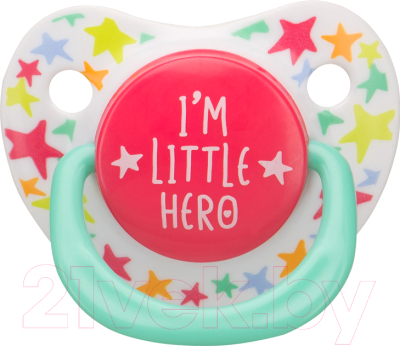 Пустышка Happy Baby Baby Soother 13012 (I'm a little hero)
