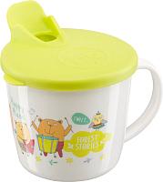 Кружка детская Happy Baby Training Cup 15010 (лайм, с крышкой) -