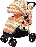 Детская прогулочная коляска Babyhit Racy (оранжевый с ромбами) -