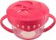 Тарелка для кормления Happy Baby Snack Bow 15021 (красный, с двумя крышками) -