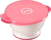 Тарелка для кормления Happy Baby Small Bowl 15024 (красный, с крышкой) -