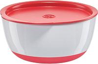Набор детской посуды Happy Baby 15025 (красный, с крышкой) -