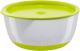 Набор детской посуды Happy Baby 15025 (лайм, с крышкой) -