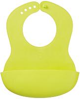 Нагрудник детский Happy Baby Baby Plastik Bib 16000 (лайм) -