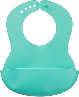 Нагрудник детский Happy Baby Baby Plastik Bib 16000 (мятный) -