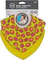 Нагрудник детский Happy Baby Baby Bibs Set 16010 (raspberry) -