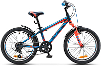 Детский велосипед Stels Pilot 230 Gent V020 20 2017 (11, темно-синий/неоновый-красный) -
