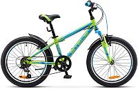 Детский велосипед Stels Pilot 230 Gent V020 20 2017 (11, зеленый/синий) -