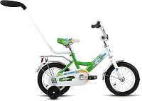 Детский велосипед с ручкой Forward Altair City Boy 2017 (12, белый/зеленый) -