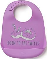 Нагрудник детский Happy Baby Bib Pocket 16006 (фиолетовый) -
