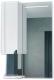 Шкаф с зеркалом для ванной Belux Анталия В60Ш (белый, левый) -