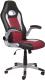 Кресло офисное Седия Neptun Eco (черный/белый/красный) -