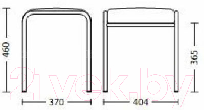 Табурет Nowy Styl Caddy Chrome (V-3)