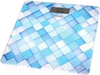 Напольные весы электронные BBK BCS3001G (голубой)