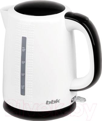 Электрочайник BBK EK1730P (белый/черный)