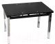Обеденный стол Седия Karlota 65 (хром/черный) -