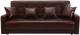 Диван ЛМФ Аккорд книжка 120 с пружинным блоком (темно-коричневый) -