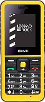 Мобильный телефон Lexand R1 Rock (черный/желтый) -