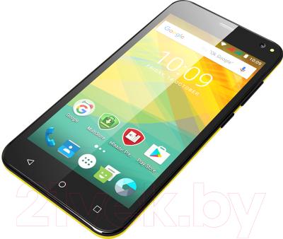 Смартфон Prestigio Wize NV3 3537 Duo / PSP3537DUOYELLOW (желтый)