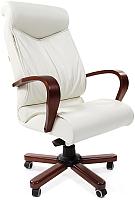 Кресло офисное Chairman 420 WD (белая кожа) -