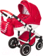 Детская универсальная коляска Vikalex Ferrone 2 в 1 (красный) -