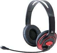 Наушники-гарнитура Defender Phoenix 875 / 63875 (черный/красный) -