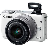 Беззеркальный фотоаппарат Canon EOS M10 Kit EF-M 15-45mm / 0922C040AA (белый) -
