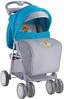 Детская прогулочная коляска Lorelli Foxy Blue&Grey Hello Bear (10020521718A) -