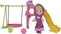 Кукла Simba Маша на детской площадке с аксессуарами 109301816029 -