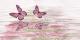 Декоративная плитка Нефрит-Керамика Баттерфляй Вода (500x250, розовый) -