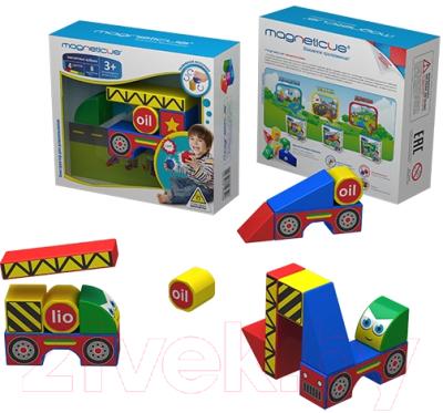 Развивающая игрушка Magneticus Магнитные кубики. Стройка / BLO-001-02