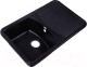 Мойка кухонная Rossinka Silvermix RS76-47SW (черный) -