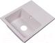 Мойка кухонная Rossinka Silvermix RS56-46SW (белый) -