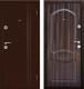 Входная дверь Дверной Континент Экстра Темный орех (98x205, правая) -