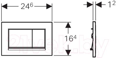 Кнопка для инсталляции Geberit Sigma 30 115.883.KM.1