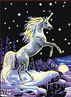 Картина по номерам Picasso Зимний единорог (PC3040049) -