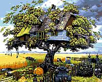 Картина по номерам Picasso Дом на дереве (PC4050198) -