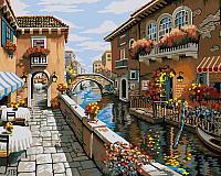 Картина по номерам Picasso Белый город у синего моря (PC4050202) -