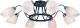 Светильник Arte Lamp Fiorentino A7144PL-8BK -