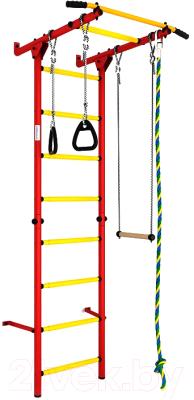 Детский спортивный комплекс Romana S1 ДСКМ-2С-8.06.Г3.490.01-13 (красный/желтый)